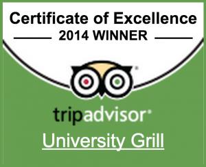 Trip Advisor 2014 Excellence Award